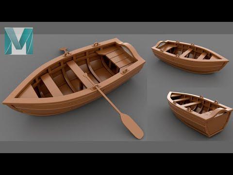 Autodesk Maya 2020 - How to Make a Simple Stylized Boat _ Feat_Pietro Chiovaro
