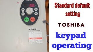 How to install Toshiba VF-S11 / toshiba vfd default seting / how to operate keyboard