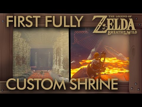 The First Fully Custom Shrine in Zelda Breath of the Wild (And It's Already Amazing)