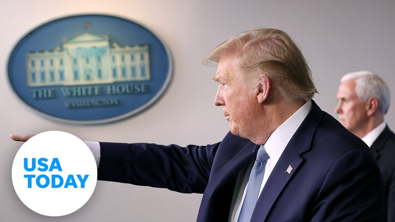 President Trump and the coronavirus task force update on pandemic - Wednesday, April 8   USA TODAY
