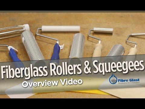 Fiberglass Rollers & Squeegees