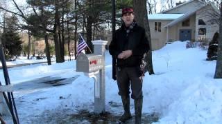 Winter Service At Yankee Mailbox Sign & Lantern