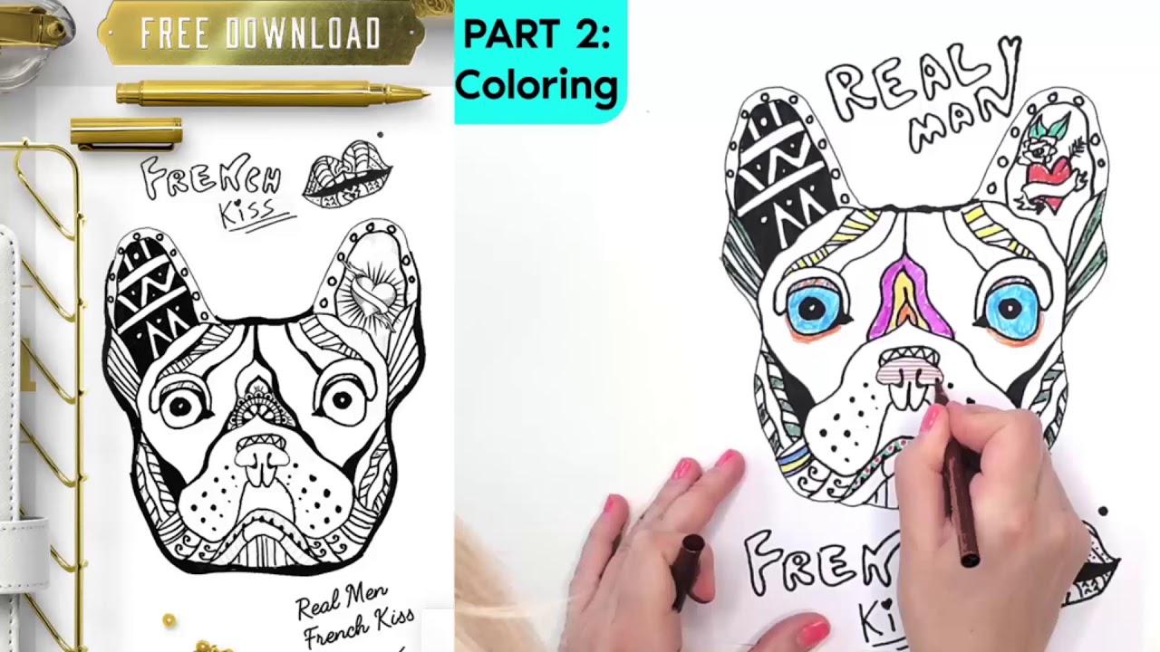 French bulldog coloring pages printable French bulldog coloring ... | 720x1280