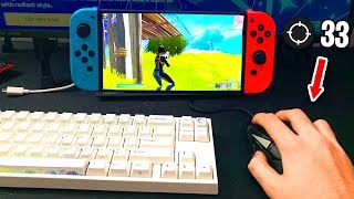 I Used MOUSE and KEYBOARD in Nintendo Switch Fortnite... (cheating?)