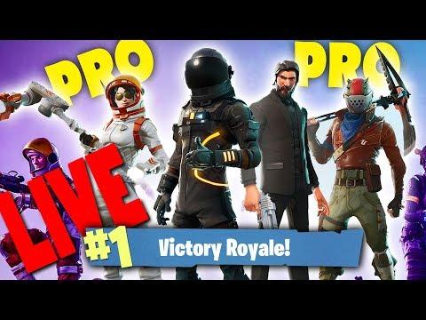 FORTNITE LIVE ΜΕ PRO PLAYERS SQUAD ΓΙΑ WINS !!!