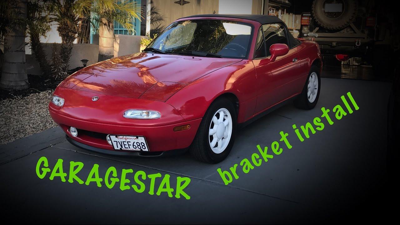 Project 1990 Mazda Miata Part 26 Garagestar Front License Plate Bracket Youtube
