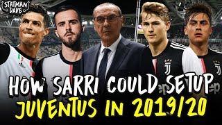 How Sarri Could Set Up Juventus Next Season | Starting Xi, Formation & Tactics