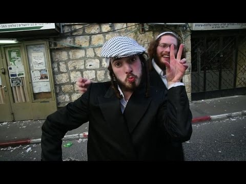 Ultra-Orthodox Jews celebrate Purim in Jerusalem