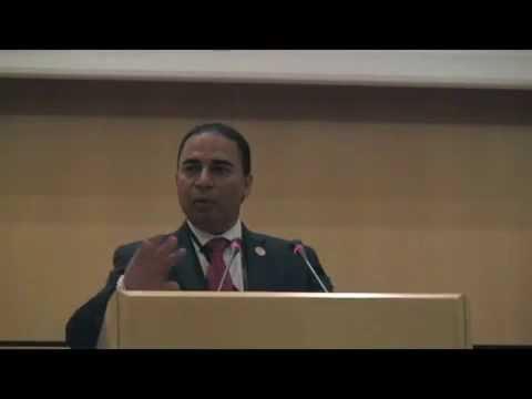Chairman Bobby K. Kalotee speaking in Geneva for MMUN