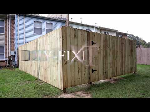 My wood panel fence install mistakes, Good / Bad and the Ulgly