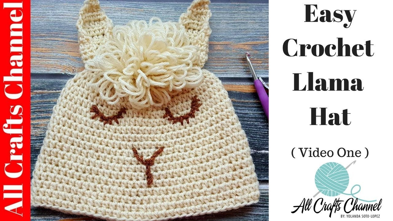 Easy to Crochet Llama Hat ( Video One ) Alpaca - YouTube 07ed832c43b