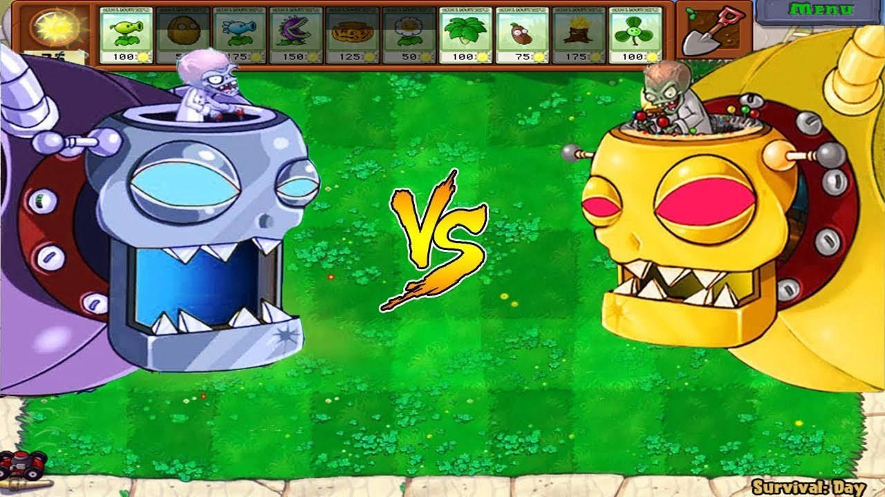 Plants FIRE vs Plants ICE vs Dr. Zomboss - Plants Vs Zombies Battlez