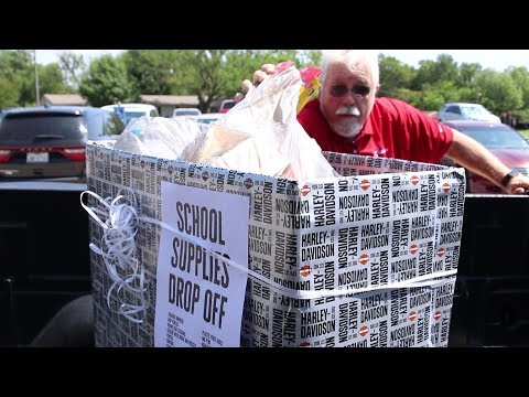 Texoma Harley Davidson School Supplies for Perrin Learning Center