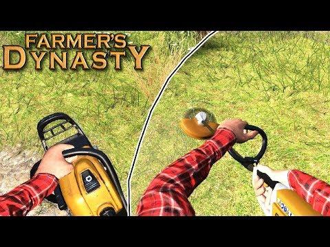 Wycinanie krzaków i wykaszanie trawy - Farmer's Dynasty  | #11