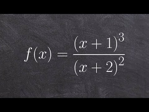 Graphing a rational function with no horizontal asymptote