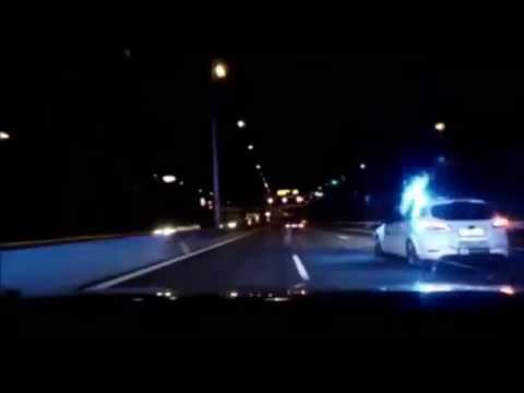 Danish police pursuit BMW with 112 mph in Copenhagen ends in crash.