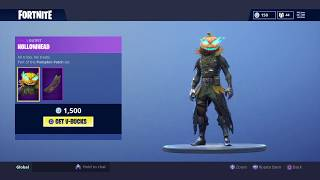 NEW HOLLOWHEAD SKIN AND CARVER AXE IN FORTNITE BATTLE ROYALE