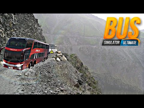 DANGEROUS BUS DRIVING ON HILLY MOUNTAINS OF HIMALAYA BUS SIMULATOR ULTIMATE GAMEPLAY 2020
