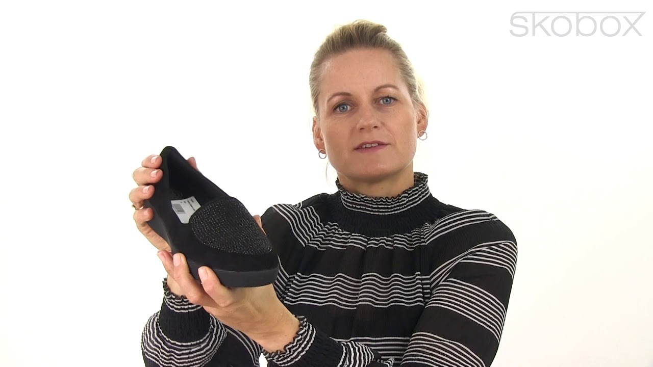 f11be87b64e4 FitFlop™ sko – Sparkly Sneaker Loafer (Sort) item no.  I96-001 - YouTube