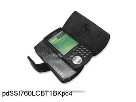 Melkco Tasche Leder Etui cuir ~Samsung I760 Book Type (Black)
