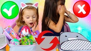 React The Lunchbox Switch Up Challenge ! DESAFIO DA TROCA DE LANCHEIRAS COM BRINQUEDOS SURPRESA !! 3