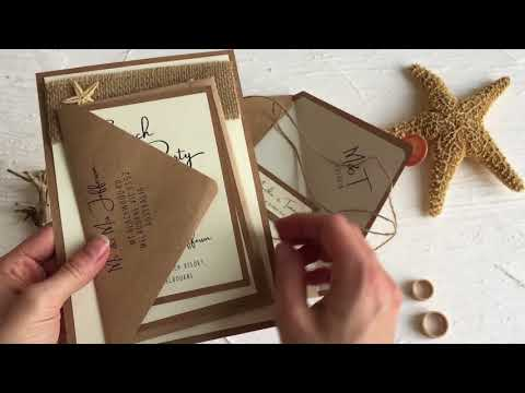 WEDDING INVITATIONS BEACH/MARINE  07/STARFISH/Z