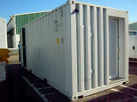 Maison container 20 ft sans mobilier youtube for Maison container 69
