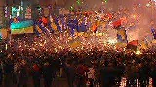 Marcia nazionalista a Kiev in ricordo di Stepan Bandera