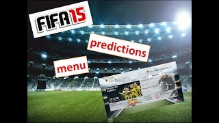 FIFA 15 - what should the menu be.