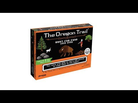 The Oregon Trail Hunt for Food Card Game