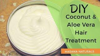 HOW-TO Skincare | Best DIY Coconut & Aloe Vera Cream (Hair & Skin) | Hasana Naturals