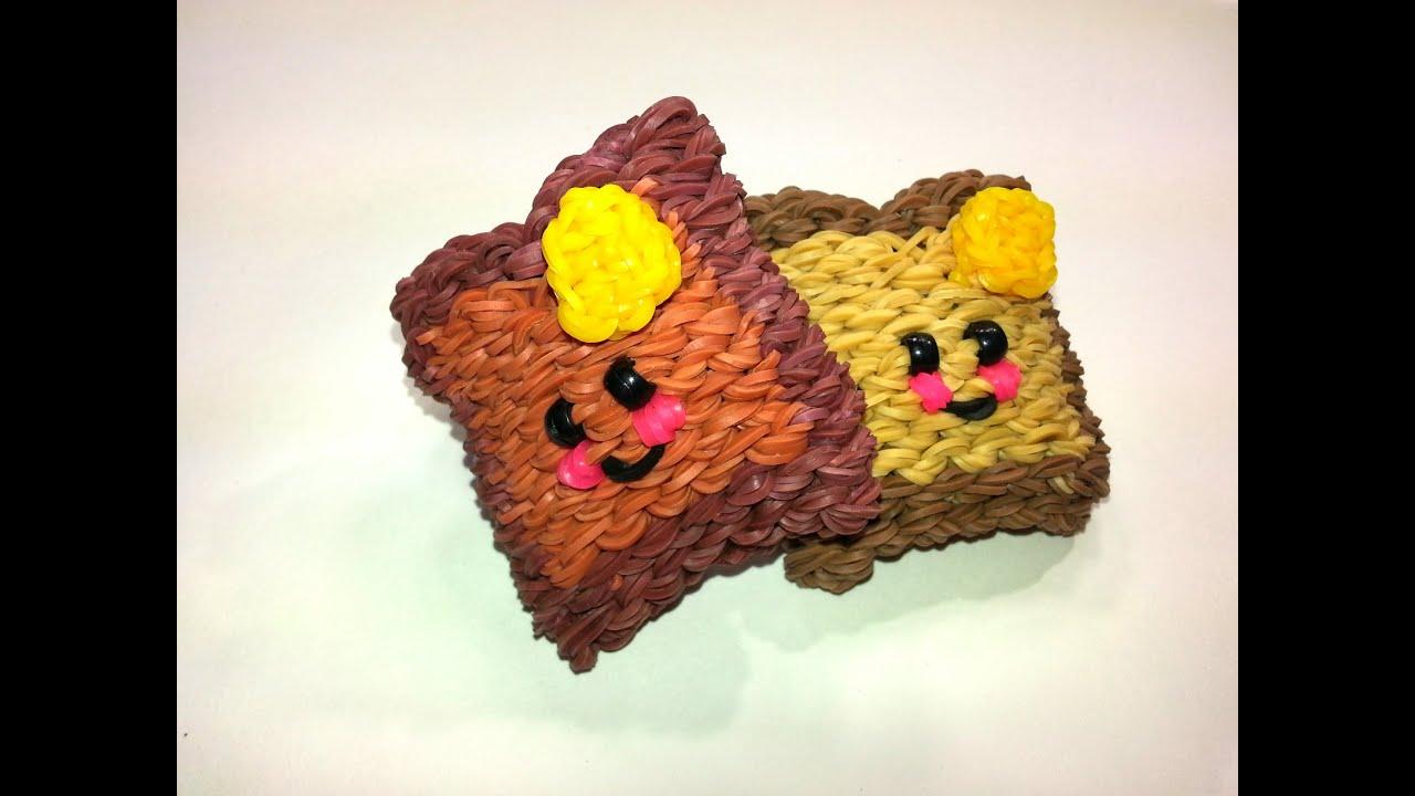 3 D Happy Toast Tutorial By Feelinspiffy Rainbow Loom