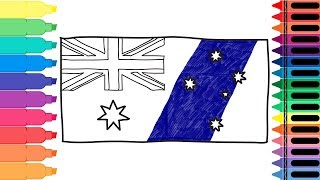 How to Draw Australia Flag - Drawing the Australian Flag - Art colors for kids | Tanimated Toys