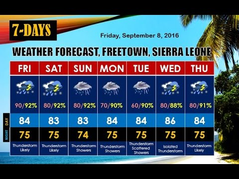 7-DAYS WEATHER FORECAST FOR SIERRA LEONE BY SHERIX BROADCAST NETWORK