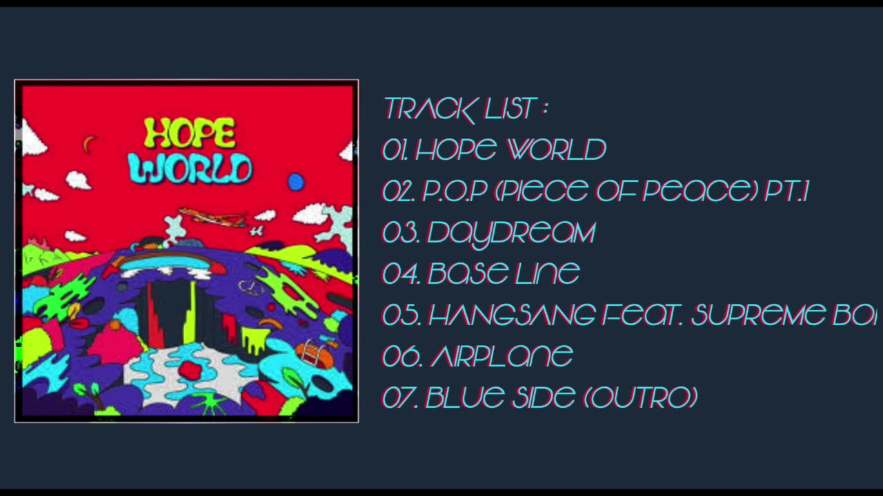 HOPE WORLD FULL ALBUM [3D + BASS BOOSTED] JHOPE MIXTAPE