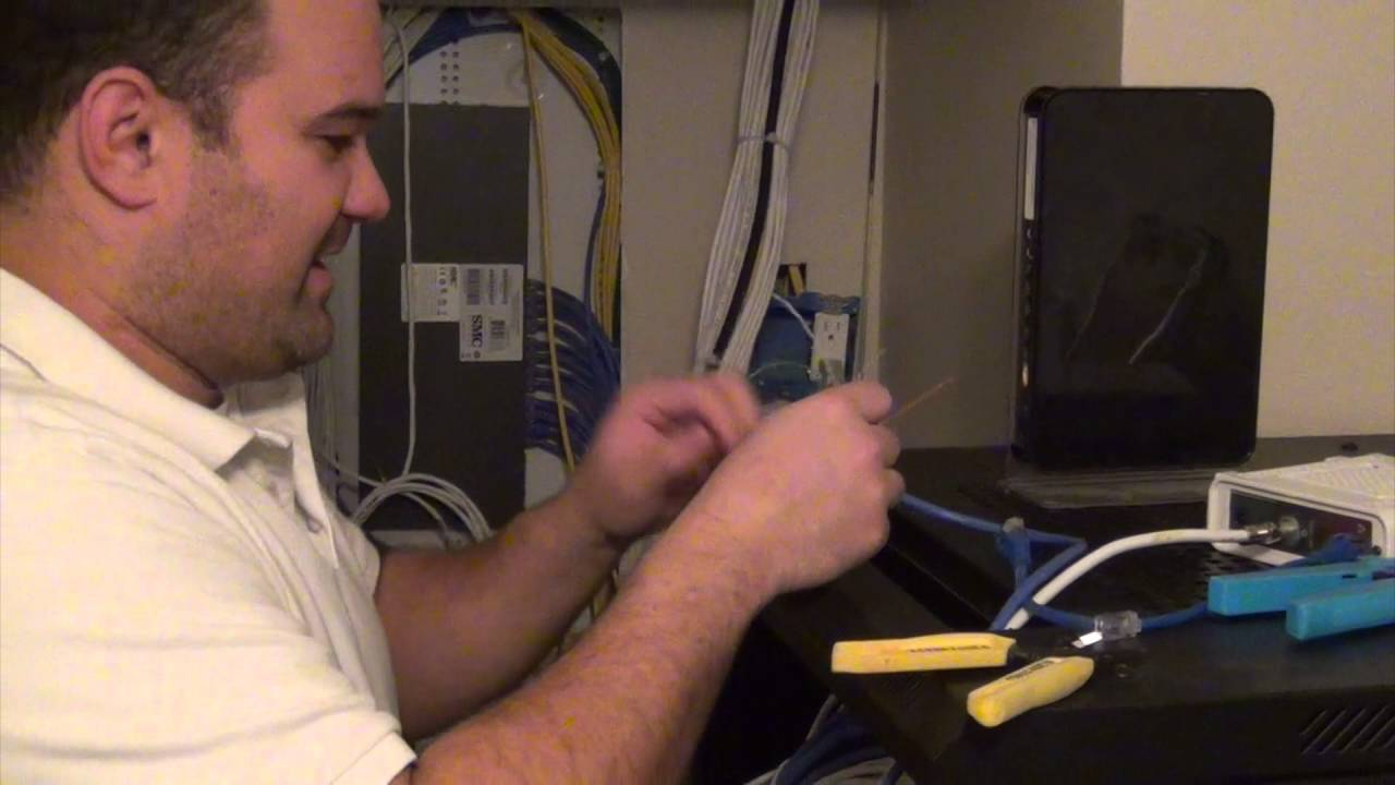 How To Put A Connector On Cat6 Network Cable Youtube Wiring