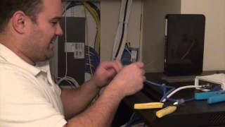 How to put a connector on a Cat6 network cable