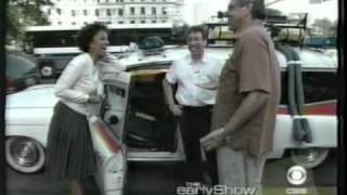 Ivan Reitman & Harold Ramis show off the Ghostbusters Car on