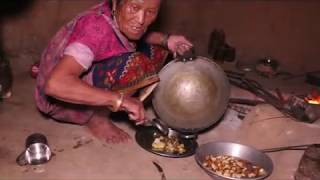 How cook curry of potatoes in traditional way ll primitive technology