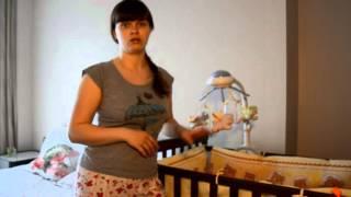 видео Музыкальный мобиль в кроватку для новорожденных