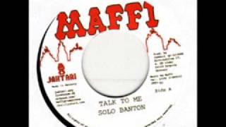 Solo Banton - Talk to me