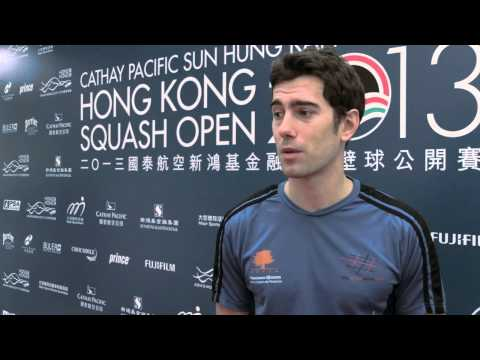 SQUASH : Borja Golan QF Post-Game Interview, Hong Kong 2013
