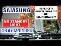 How to Fix SAMSUNG TV Won't Turn On No Red Light, No Sound No Display || Samsung TV No Standby Light