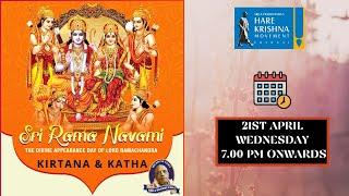 Sri Ramanavami Celebrations 2021   Hare Krishna Movement Chennai