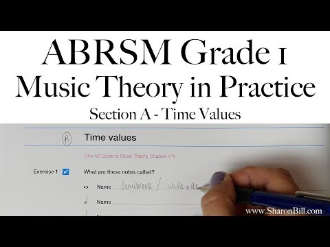 ABRSM Grade 1 Music Theory Section A Time Values With Sharon Bill