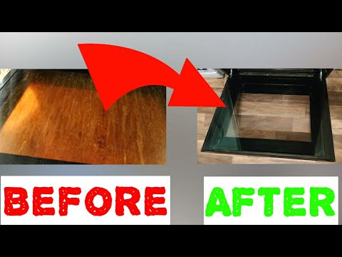 How to clean the oven glass with 2 ingredients you have at home in 15 min