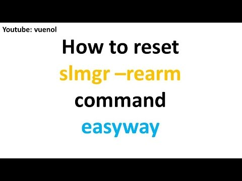 how to reset rearm command