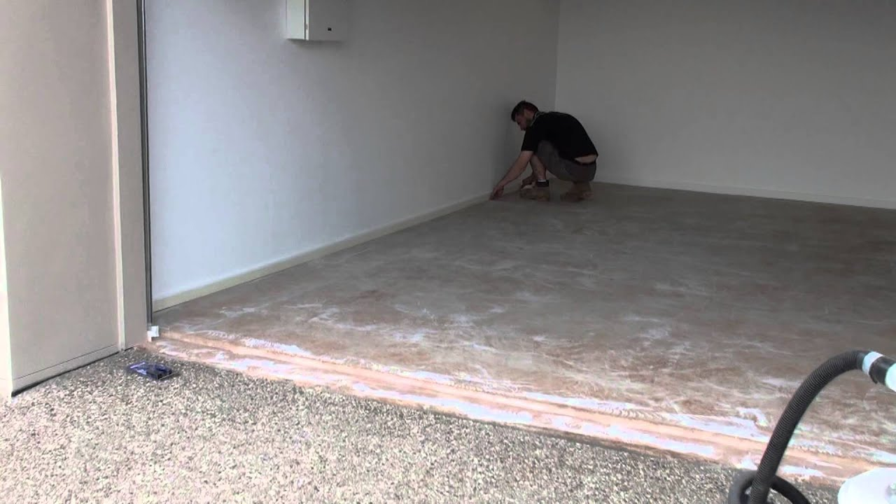 Tapping Up Garage Floor Edge To Prevent Over Runs With The Epoxy