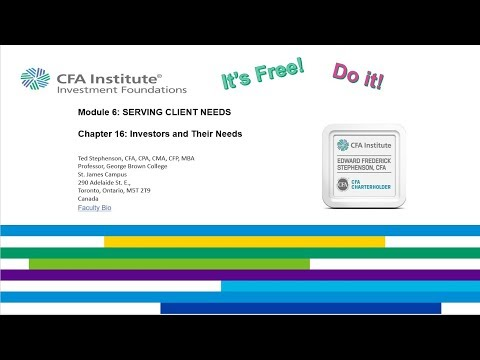 Chapter 16 CFA Institute Investment Foundations