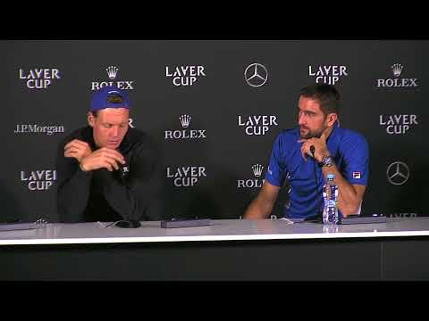 Berdych and Cilic Press Conference Laver Cup 2017